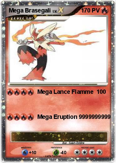 Pok mon mega brasegali 4 4 mega lance flamme ma carte - Coloriage pokemon brasegali ...
