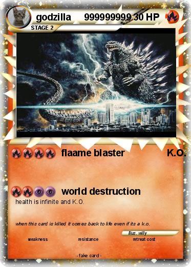 Pokémon godzilla 999999999 999999999 - flaame blaster K.O ...