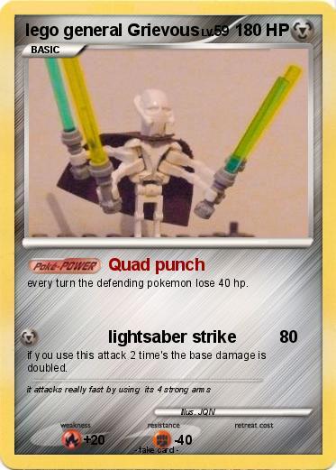 Pokmon Lego General Grievous 3 3 Quad Punch My Pokemon Card