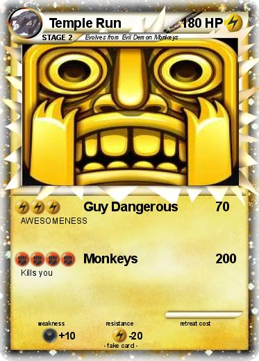 Pokmon Temple Run 2 2 Guy Dangerous My Pokemon Card