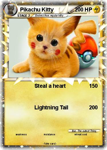 pokémon pikachu kitty 21 21 steal a heart my pokemon card
