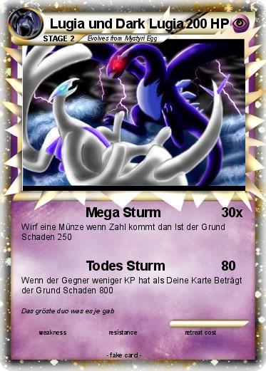 Pokémon Lugia und Dark Lugia - Mega Sturm - My Pokemon Card
