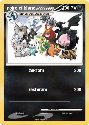 Voir carte pokemon noir et blanc - Liste des pokemon noir et blanc ...