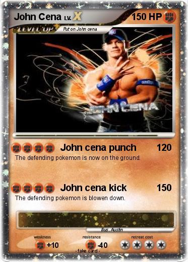 Pok mon john cena 1564 1564 john cena punch my pokemon card - Pokemon for john gba lite ...