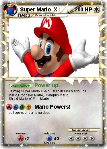 Pok 233 Mon Super Mario X 4 4 Power Up My Pokemon Card