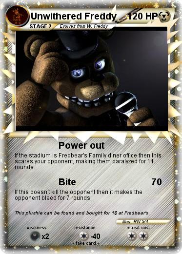 Pokémon Unwithered Freddy 1 1 - Power out - My Pokemon Card