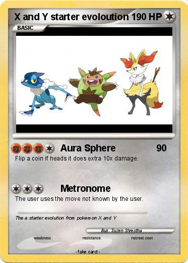 pok233mon x and y starter evoloution aura sphere my