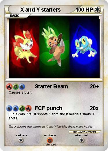 Pokémon X and Y starters 4 4 - Starter Beam - My Pokemon Card