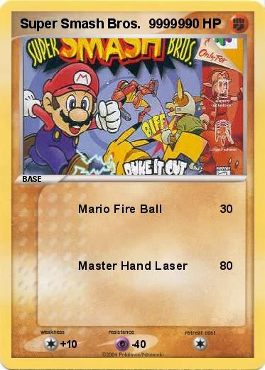 Pok 233 Mon Super Smash Bros 999999 999999 Mario Fire Ball