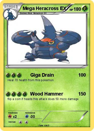 Pokémon Mega Heracross EX - Giga Drain - My Pokemon Card