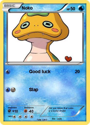 pokémon noko 4 4 good luck my pokemon card