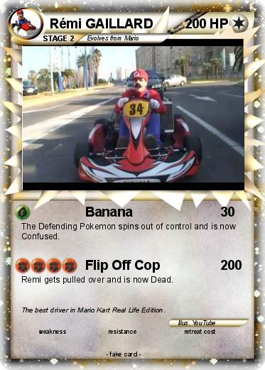 pok mon remi gaillard 20 20 banana my pokemon card. Black Bedroom Furniture Sets. Home Design Ideas