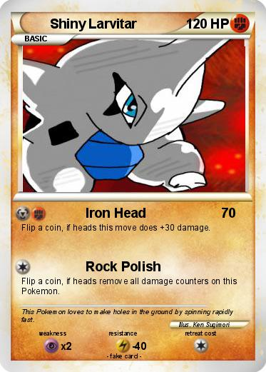 Pokémon Shiny Larvitar 2 2 - Iron Head - My Pokemon Card