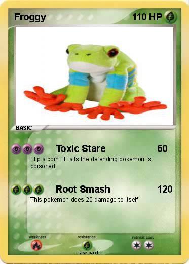pokémon froggy 59 59 toxic stare my pokemon card