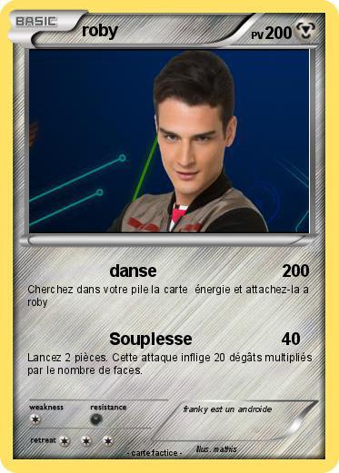 Pok mon franky 286 286 danse ma carte pok mon - Coloriage franky le robot ...