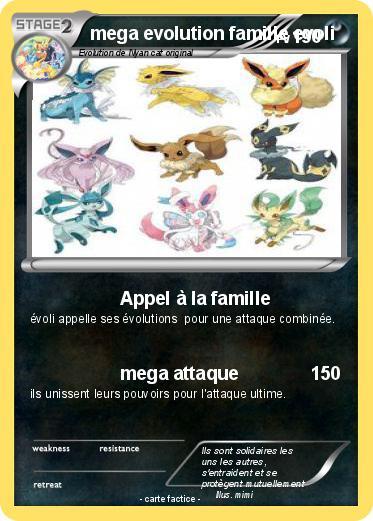 Pok mon mega evolution famille evoli appel la famille - Famille evoli pokemon ...