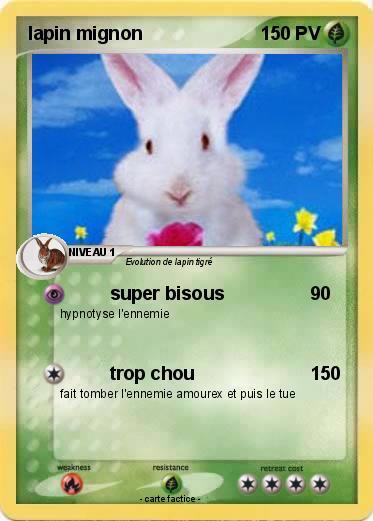 Connu Pokémon lapin mignon 3 3 - super bisous - Ma carte Pokémon JO08