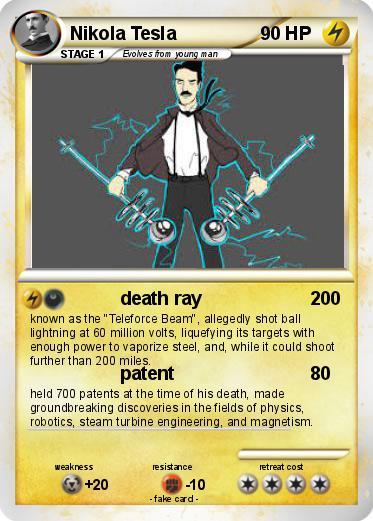 Pok 233 Mon Nikola Tesla 2 2 Death Ray My Pokemon Card
