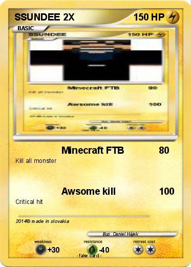 Pokémon SSUNDEE 2X - Minecraft FTB - My Pokemon Card
