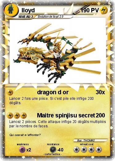 Pok mon lloyd 387 387 dragon d or ma carte pok mon - Carte ninjago ...