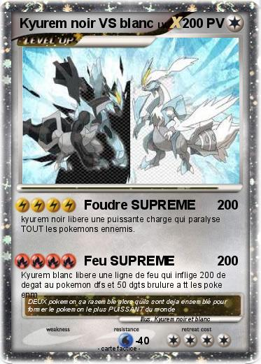 Pok mon kyurem noir vs blanc 2 2 foudre supreme ma carte pok mon - Pokemon legendaire blanc 2 ...