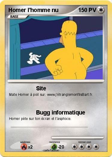 Pok mon homer l homme nu site ma carte pok mon - Homer simpson nu ...