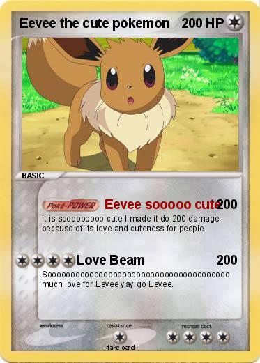 pokémon eevee the cute pokemon eevee sooooo cute my pokemon card