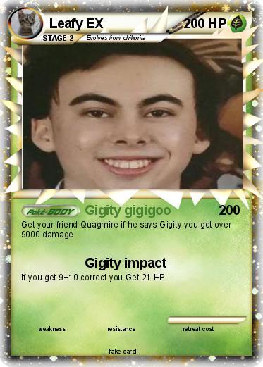 Pokémon Leafy EX 1 1 - Gigity gigigoo - My Pokemon Card
