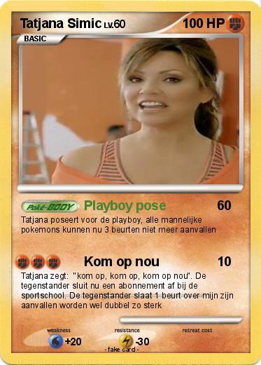 Pokémon Tatjana Simic - Playboy pose - My Pokemon Card