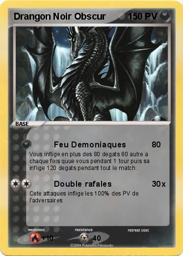 Pok mon drangon noir obscur feu demoniaques ma carte - Pierre feu pokemon noir ...