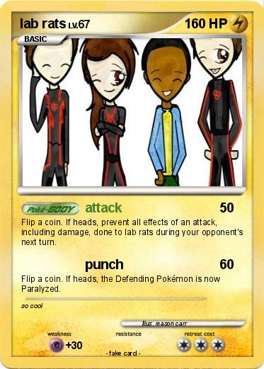 Pokmon lab rats 5 5 attack My Pokemon Card