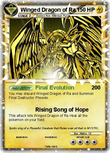 Pokemon Winged Dragon Of Ra 37 Final Evolution My Card She Coloring Page Pages Yugioh