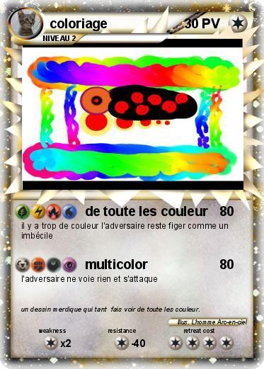 Bekannt Pokémon coloriage - de toute les couleur - Ma carte Pokémon WV35