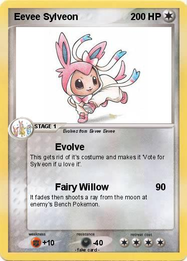 Pokemon Eevee Sylveon Card Pokémon Eevee ...