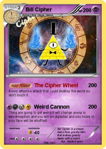 Pok 233 Mon Bill Cipher 186 186 The Cipher Wheel My