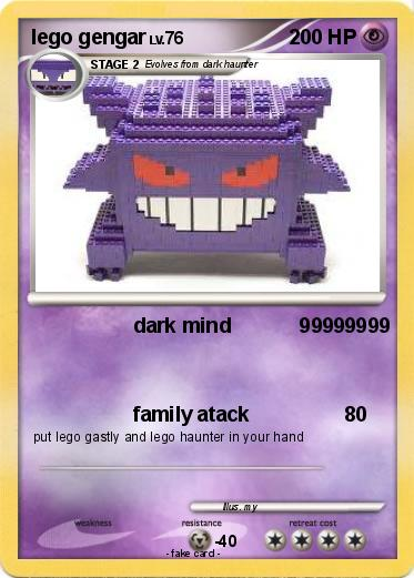 Pok mon lego gengar dark mind 99999999 my pokemon card - Lego pokemon rayquaza ...