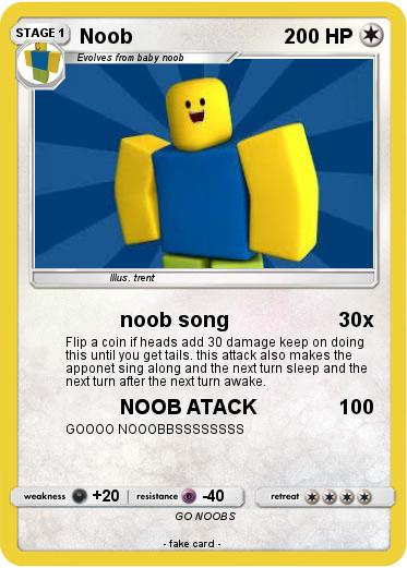 Pokémon Noob 926 926 Noob Song My Pokemon Card
