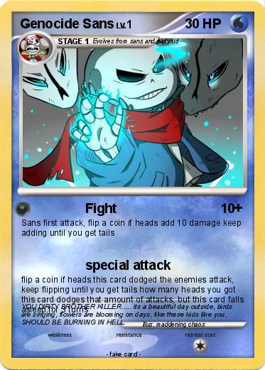 pokémon genocide sans 17 17  fight  my pokemon card