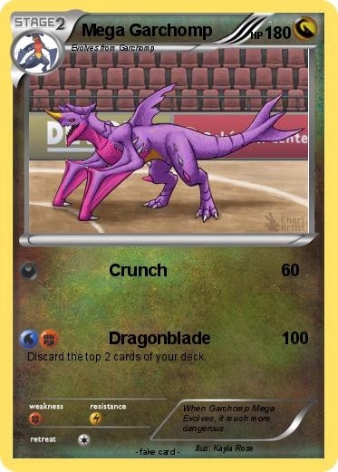Pokémon Mega Garchomp 68 68 - Crunch - My Pokemon Card