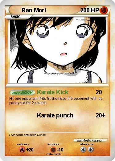 Pokémon Ran Mori - Karate Kick - My Pokemon Card