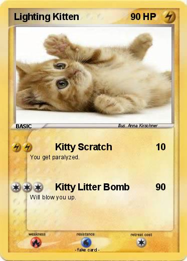 Pokemon Lighting Kitten & Pokémon Lighting Kitten - Kitty Scratch - My Pokemon Card