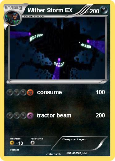 Pok 233 Mon Wither Storm Ex Consume My Pokemon Card
