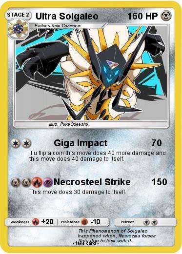 Pok 233 Mon Ultra Solgaleo 19 19 Giga Impact My Pokemon Card