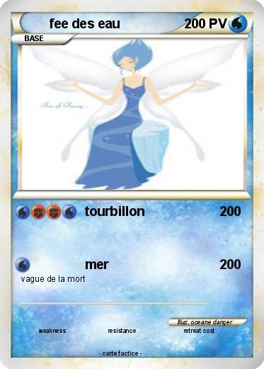 Pok mon fee des eau tourbillon ma carte pok mon - Carte pokemon fee ...