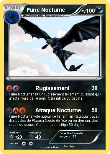 Pok mon furie nocturne 66 66 rugissement ma carte pok mon - Furie nocturne dragon ...