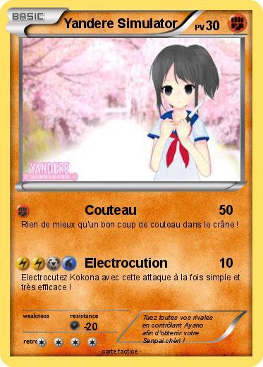 Coloriage Yandere Simulator A Imprimer.Pokemon Yandere Simulator Couteau Ma Carte Pokemon