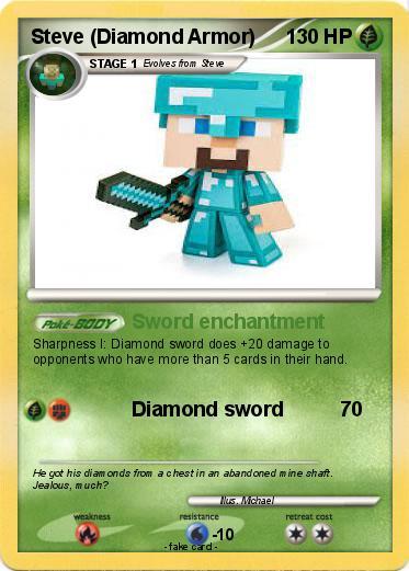 Pok mon Steve Diamond Armor 3 3 Sword enchantment My