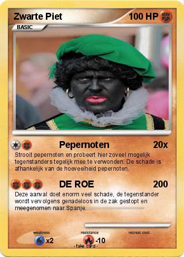 Pok 233 Mon Zwarte Piet 6 6 Pepernoten My Pokemon Card
