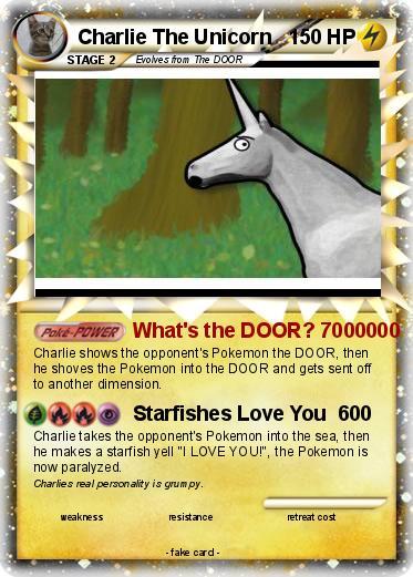 Pokemon Charlie The Unicorn  sc 1 st  My Pokemon card & Pokémon Charlie The Unicorn 19 19 - Whatu0027s the DOOR? 7000000 - My ...