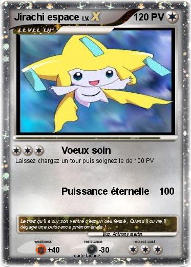 Pok mon jirachi espace voeux soin ma carte pok mon - Carte pokemon jirachi ...